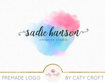 Premade Logo - Colorful Logo - Watercolor Logo - Photography Logo - Feminine Logo