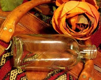 Vintage Flask Glass Bottle Circa 1940's