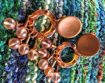 Lucite Plastic Clip Earrings Dramatic Copper Boho Style!
