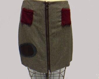 Fun tweed mini skirt XL