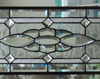 Stained Glass Window Hanging 35 X 11 1/2