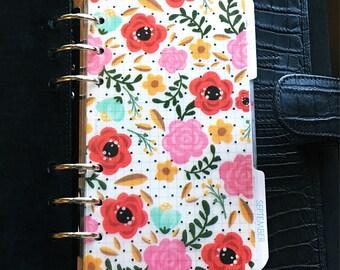 Planner dashboard - vellum divider - laminated insert - floral dashboard - planner divider - planner accessories - planner supplies