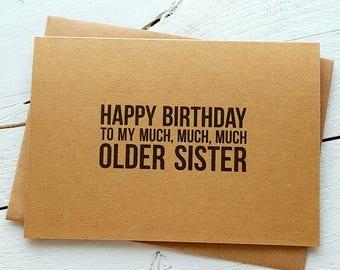 Funny Birthday Card - Sister Card - Handmade Cards - Funny Greeting Cards - Sister Birthday Card - Birthday Cards - Funny Sister Card