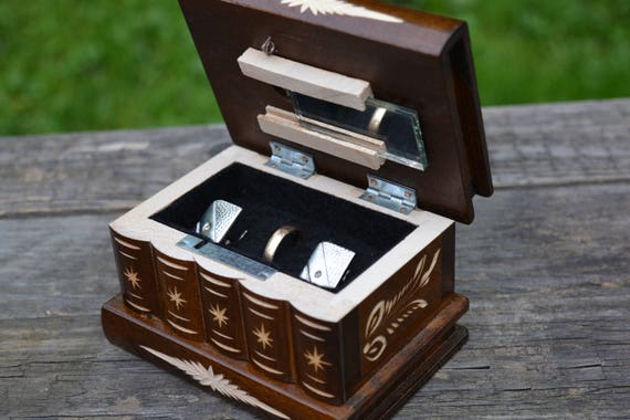 Wife to husband gift gift for men wooden cufflink box