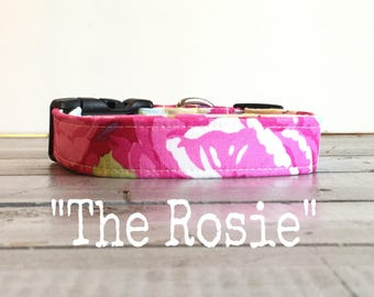 LAST CHaNCe'!!  DOG COLLAR, Dog Collars, The Rosie, Dog Collars, Dog Collars for Girls, BLooM, Floral