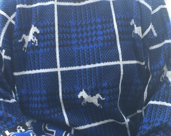 Blue and black horse classic sweater
