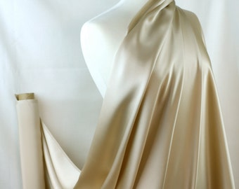 """100% Silk Fabric By the1/2 Yard 45"""", Nude 19mm Mulberry SIlk Charmeuse"""