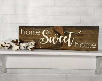 Rustic Home Sweet Home Sign - Farmhouse Style Sign - Farmhouse Decor - Wall Decor - Wooden Sign - Home Sweet Home Sign - Home Decor