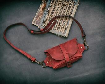 Handmade waist bag, modern leather fanny pack, stylish fanny pack, hip bag, bum bag, stlish fanny pack and purse