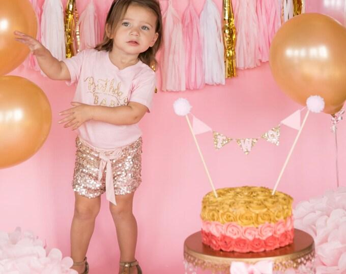 Mini Glitter Birthday Girl Party Hat   First Birthday   Baby, Birthday   Cake Smash    2nd Birthday   Baby Girl Birthday   Ready to Ship