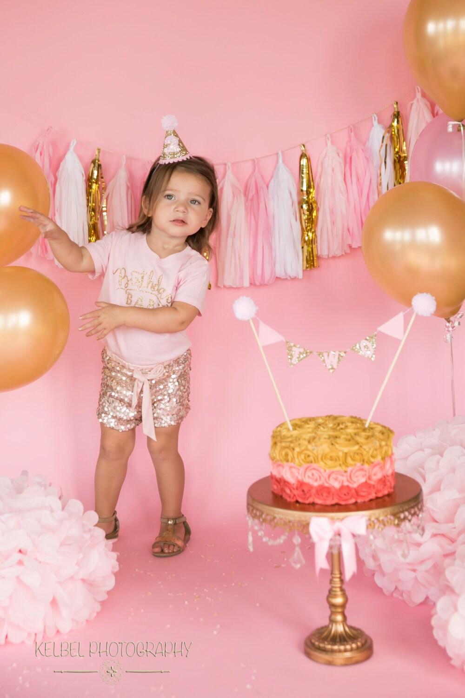 Mini Glitter Birthday Girl Party Hat First Birthday Baby