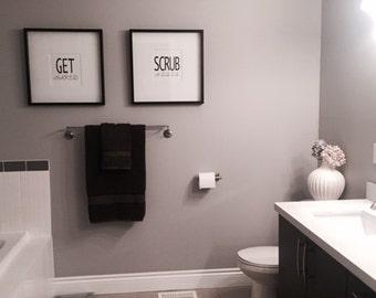 Scrub A Dub Dub Bathroom Digital Print