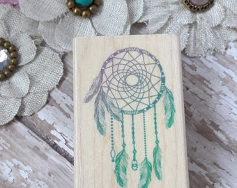 Dreamcatcher Native American Wood Mounted Rubber Stamp Scrapbooking & Paper Craft Supplies