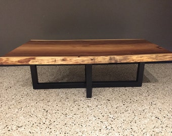 Monkey pod live edge coffee table