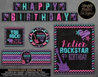 Girl Rockstar Birthday Party Decorations