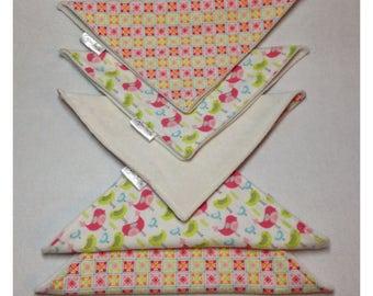 Organic cloth wipes, baby washcloths, organic bamboo, bird washcloth, flannel baby wipe, organic cloth wipe, bird baby, flower baby