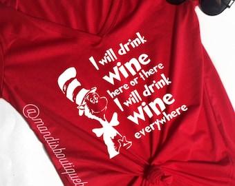 I will drink wine shirt