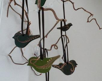 Easter decoration, set of 10 birds