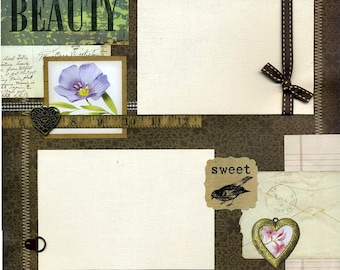 Beauty - Premade Scrapbook Page