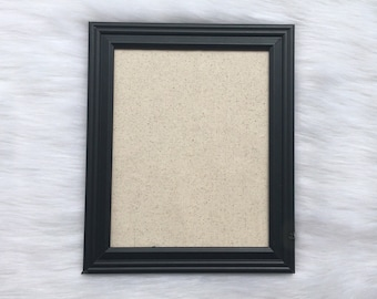 ADD A FRAME! Basic Black Picture Frame, 8x10, Add Frame with Fabric Print