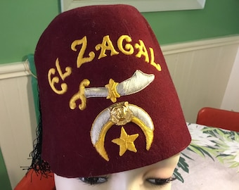 Fezzes for ferals cat rescue charity fundraiser vintage Masonic Temle Shriner fez