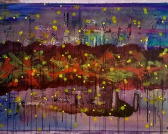 Nebula, Original abstract art painting