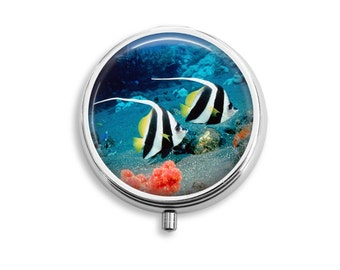 Ocean Animal Pill Box, Pill Case, Pill Container, Mints Case, Trinkets Box, Jewelry Box (P040)