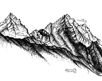 Himalayan Dreamscape - Thamserku Mountain - Archival Print