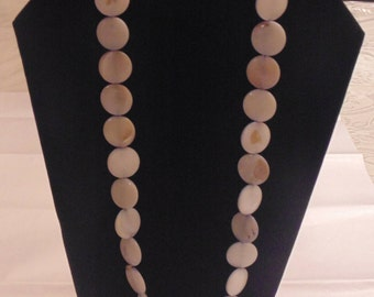 Flat Disc Bead Necklace
