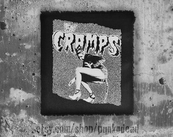 The Cramps cat woman • punk patch • back patches • punk fashion • punk clothing • punk aufnäher • retro • punk accessories • sew on patches