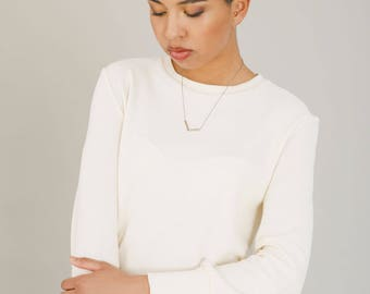 Ivory organic cotton sweater -  Spring womens clothing