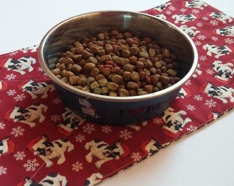 Last One Christmas Pets, Dog Gift, Pug Placemat, Pet Food Bowl, Dog Supplies, Gift For Dog Lover