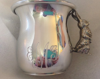 Engraved Bunny Baby Cup