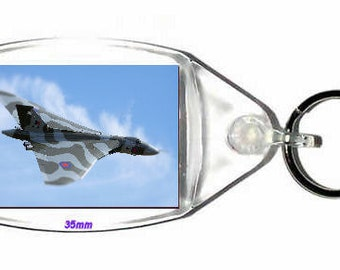 keyring double sided - avro vulcan heavy bomber british bomber plane. - novelty funny new keychain key ring by wonkydragon