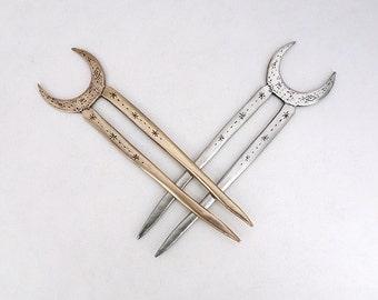 Crescent Moon hair fork