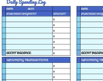 Daily Spending Log