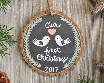First Christmas Ornament Married, Personalized Couple Gifts, Our First Christmas Ornament, Just Married Ornament, Newlywed Christmas Gift