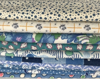 Aunt Grace 1930's Reproduction Blue (B4) fat quarter bundle OOP HTF