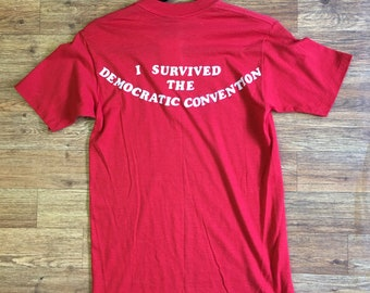 Vintage Paper Thin 80s Democratic Convention Sneakers T-Shirt