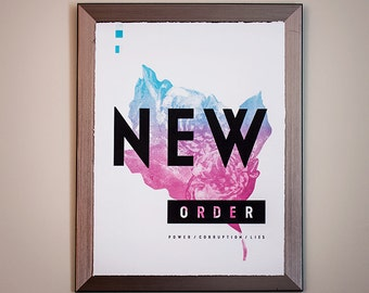 New Order : Power Corruption and Lies - Limited Silkscreen