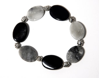Anxiety Bracelet, Smooth Fidget Bracelet, Anxiety Jewelry, Fidget Jewelry, Worry Bracelet, Gray Bracelet, Anxiety Relief, Stone Jewelry