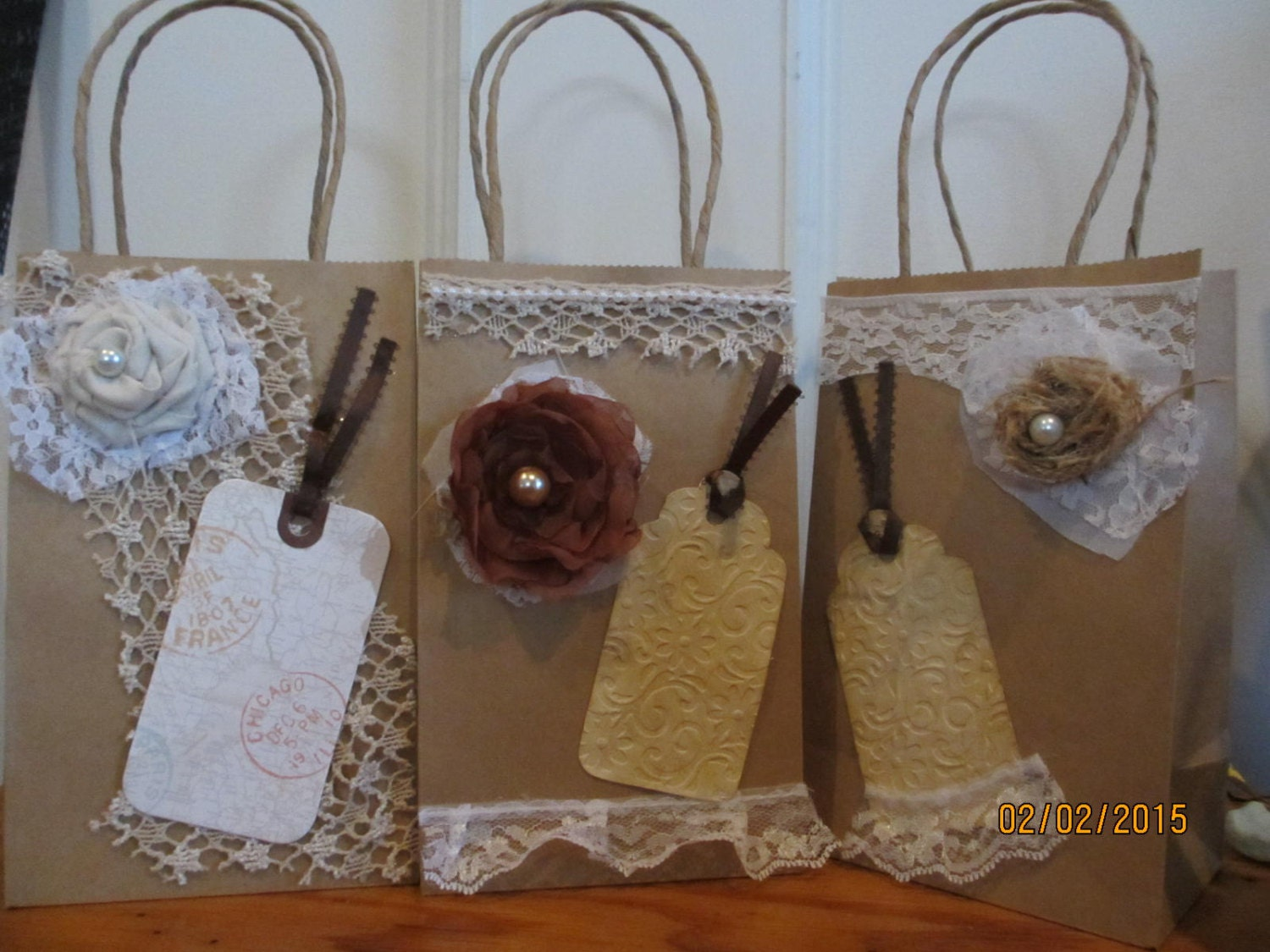 New Item Sale 5 Assorted Rustic Shabby Chic Hotel Wedding Guest Gift