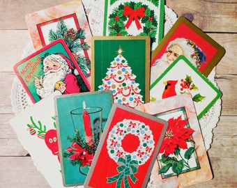 Vintage Playing Cards / Christmas / Lot of 10 / Daily Planner / December Journal