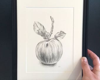Backyard Apple, original drawing