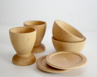 Wooden Dishes Pretend Play Set