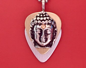 """Guitar Pick Necklace """"Heaven Is In Your Mind"""""""