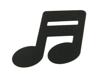 Large Joined Eighth Note Die Cut Set of 20 , Music Note Die Cut