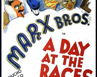A Day At The Races FRIDGE MAGNET 6x8 Marx Brothers Magnetic Movie Poster CANVAS Print