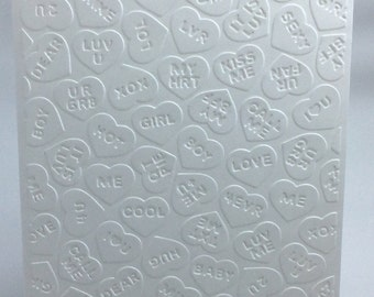 Embossed Candy Hearts Card