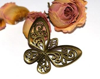 Openwork Butterfly bronze 5.5x4.5 cm pendant